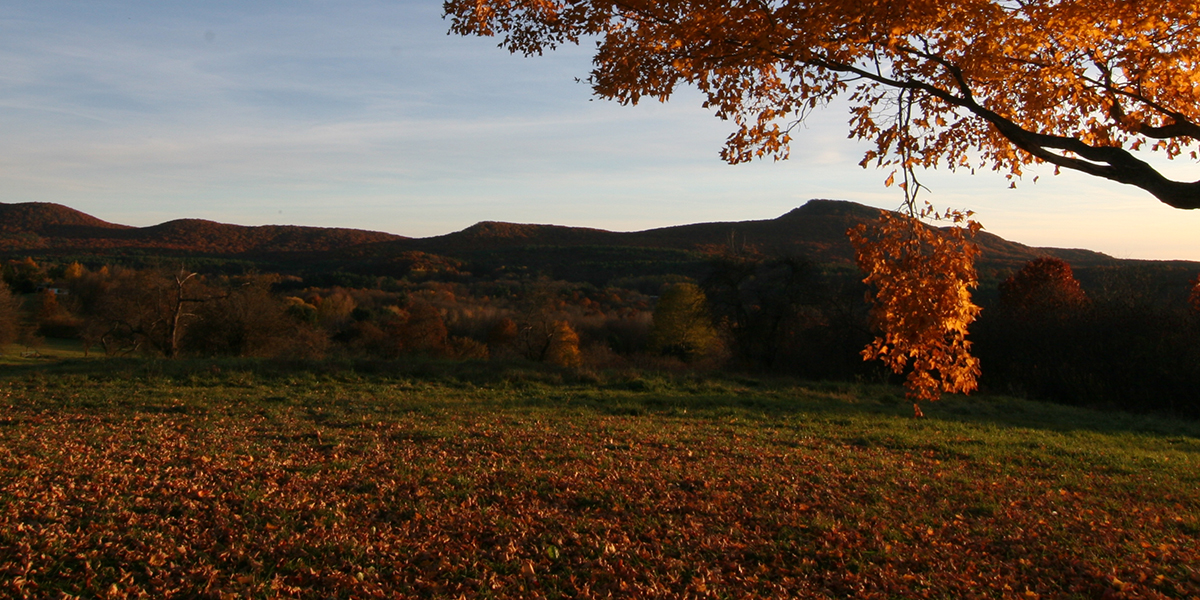 Mt Holyoke Range in autumn