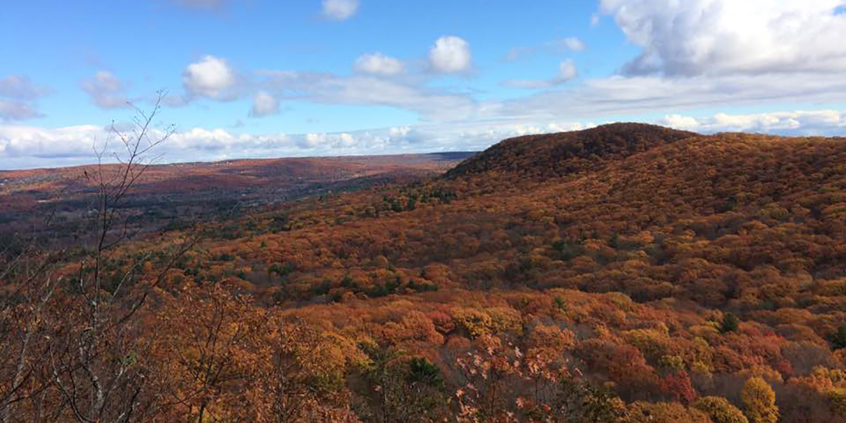 Autumn View Of Mt Holyoke Range From Rattlesnake Knob