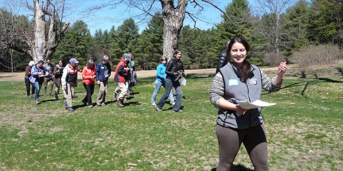 volunteers walking in the park