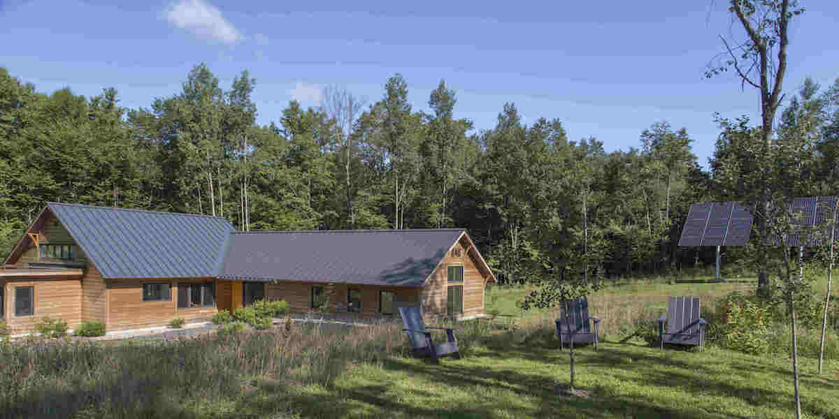 McLeish Field Station building and woods