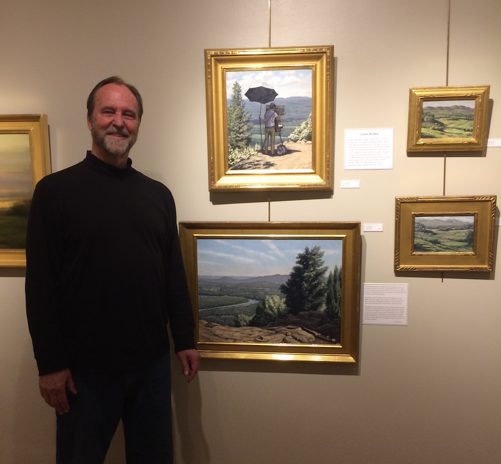 Lewis Bryden With A Selection Of His Works From The Range.