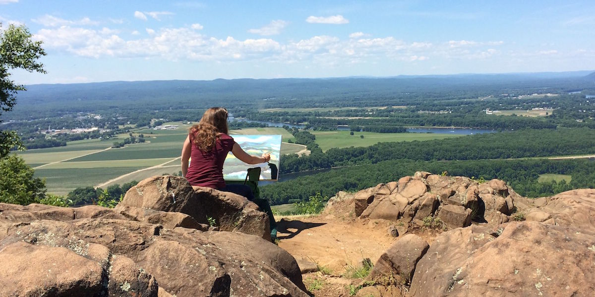 Painter At The Summit
