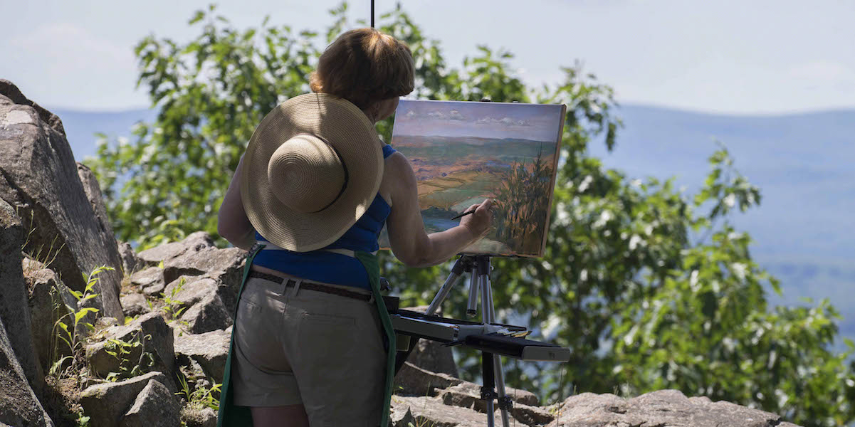 Painter On The Summit