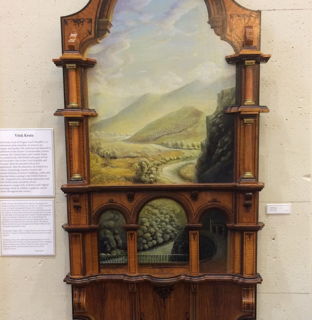 "Vitek Kruta, Happy Valley: The Frame Takes The Viewer To The Mid 19 Century, Creating An Illusion Of Being On A ""Look Out"" Observing The Pristine Landscape From Mount Tom North."