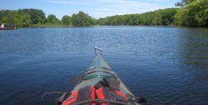Kayaking boat on water
