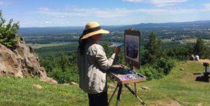 Artist working at Summit