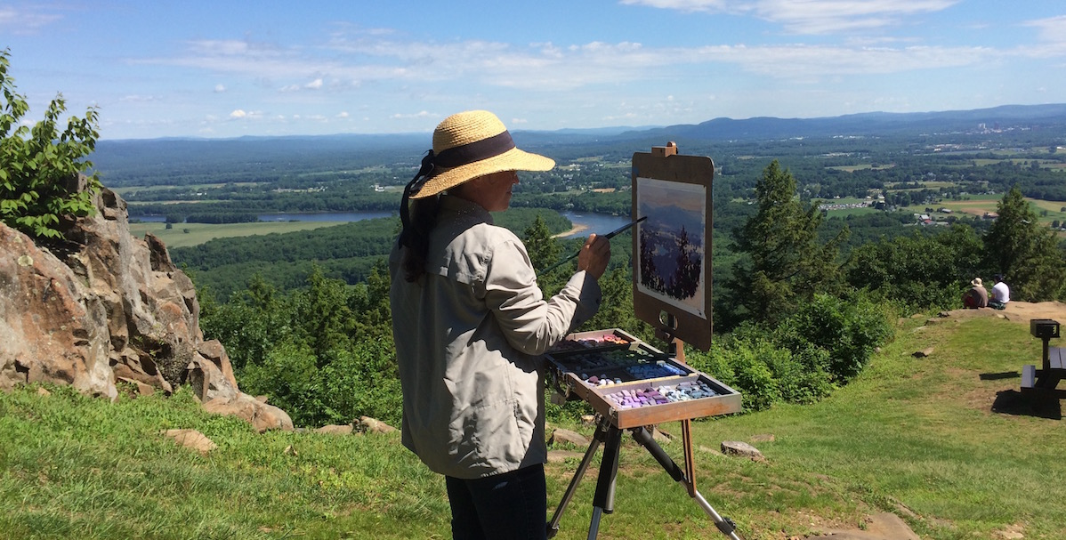 Artist Working At Summit