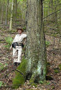 Bob Leverett under tree on Mt Tom