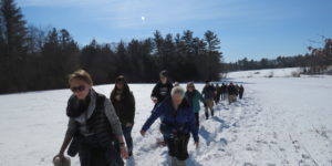 Winter group walk
