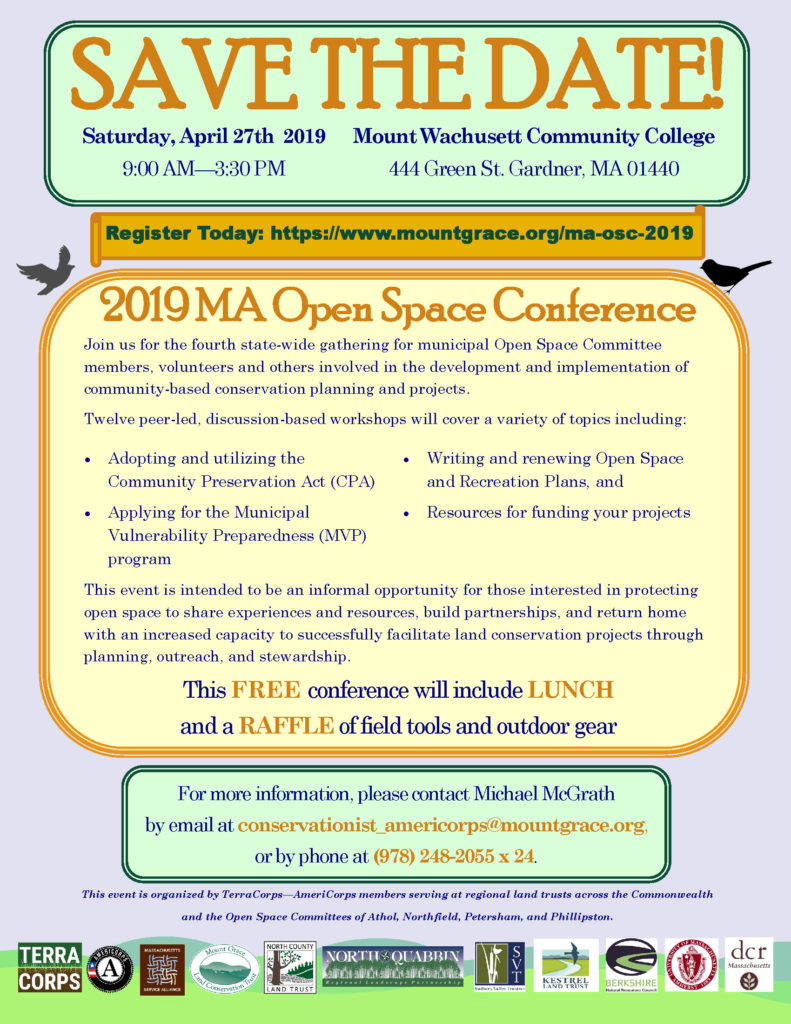 MA Open Space Conference poster