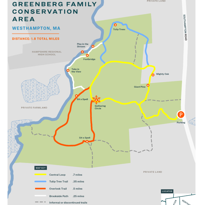 Greenberg Conservation Area map