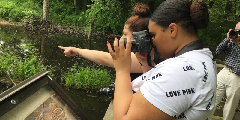 Students Photographing Nature