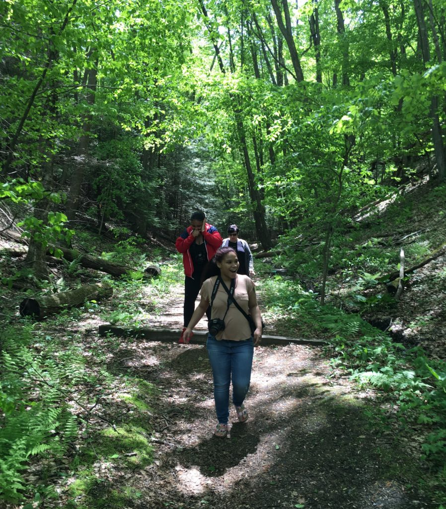 Photographers on trail