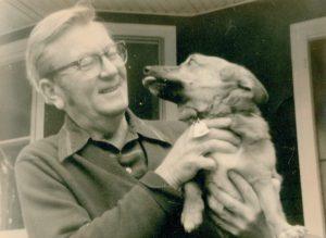 Robert McClung with dog