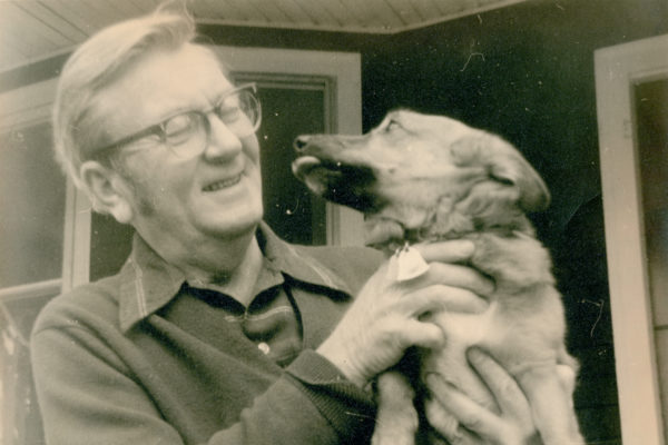 Robert McClung With Dog