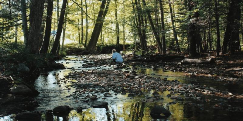 Woman At Amethyst Brook