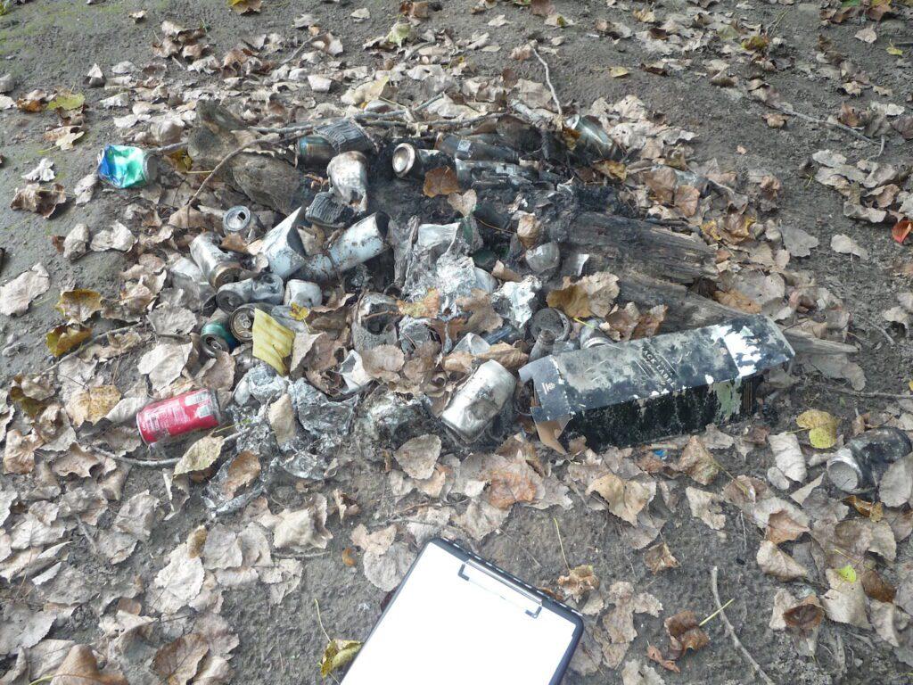 Garbage pile on island