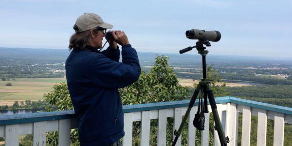 Dave King With Binoculars