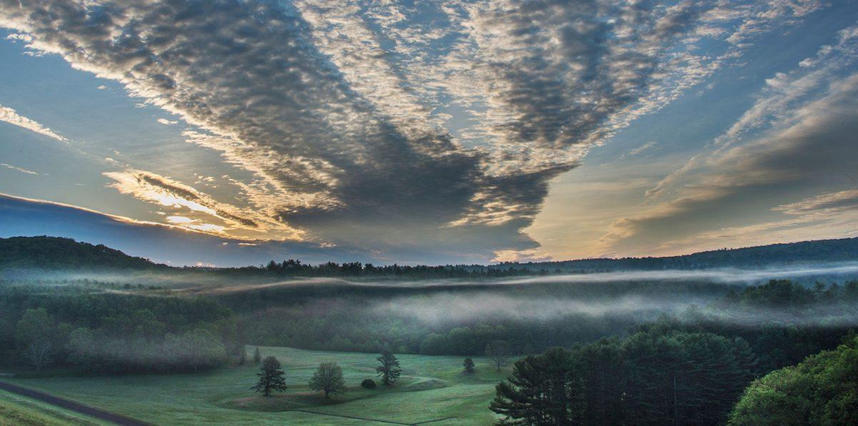 Sunrise over Quabbin by Michael Zide