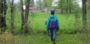 volunteers in a field