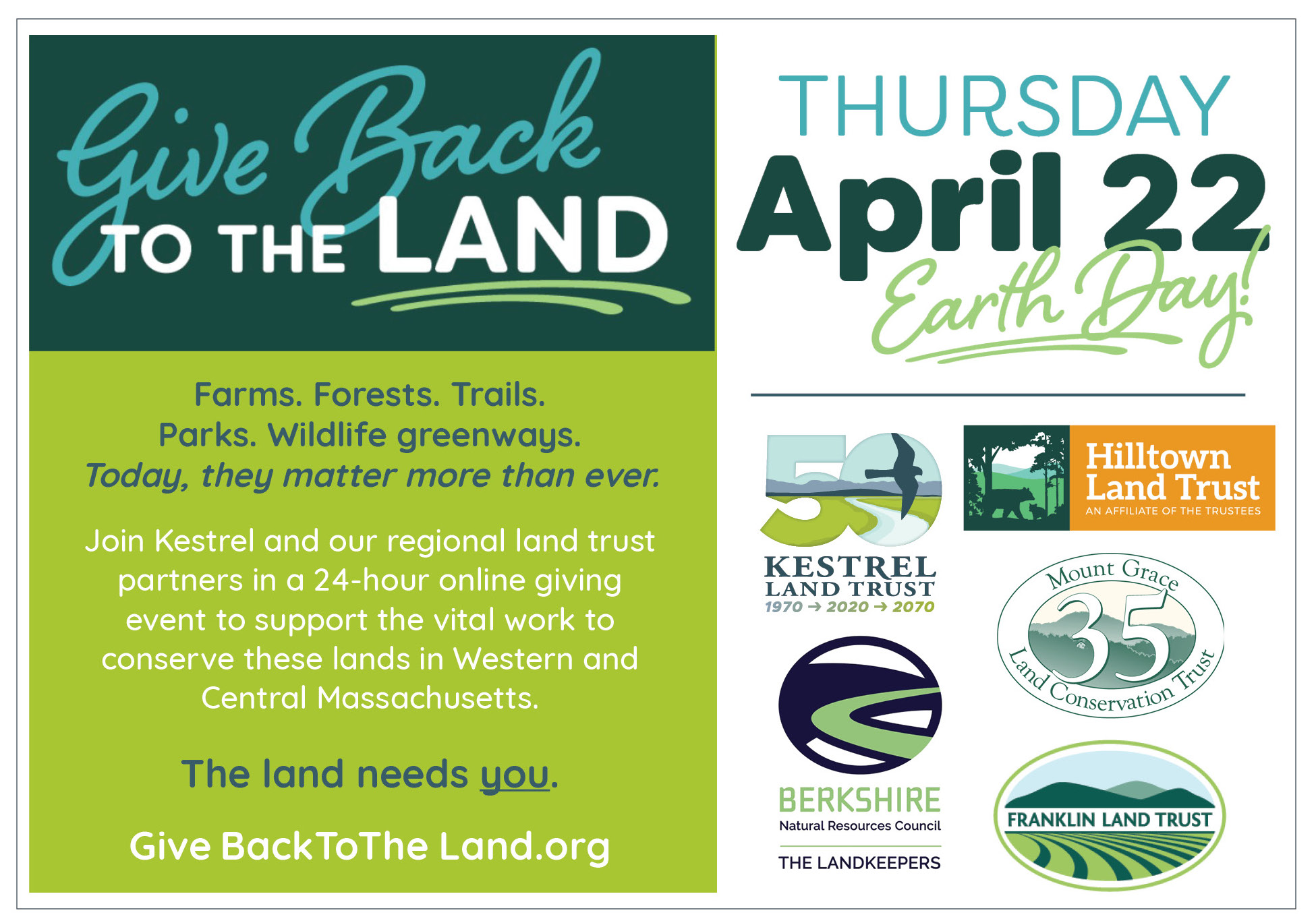 Give Back to the Land graphic