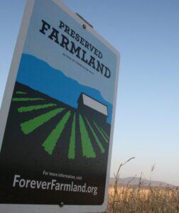 Forever Farmland sign