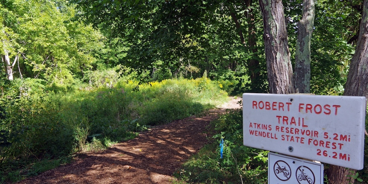 Robert Frost Trail Sign