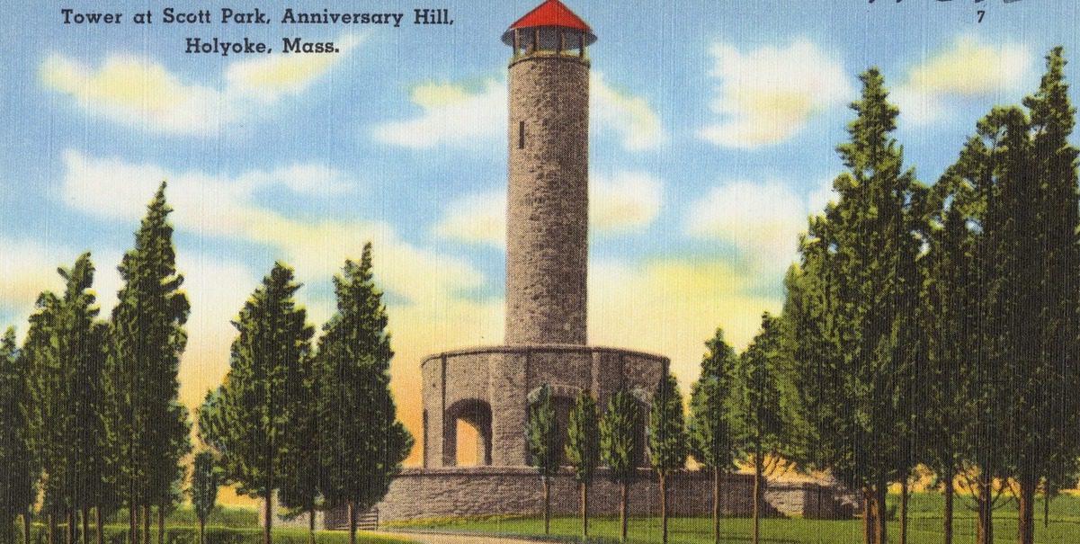 Historic Postcard Of Scott Tower